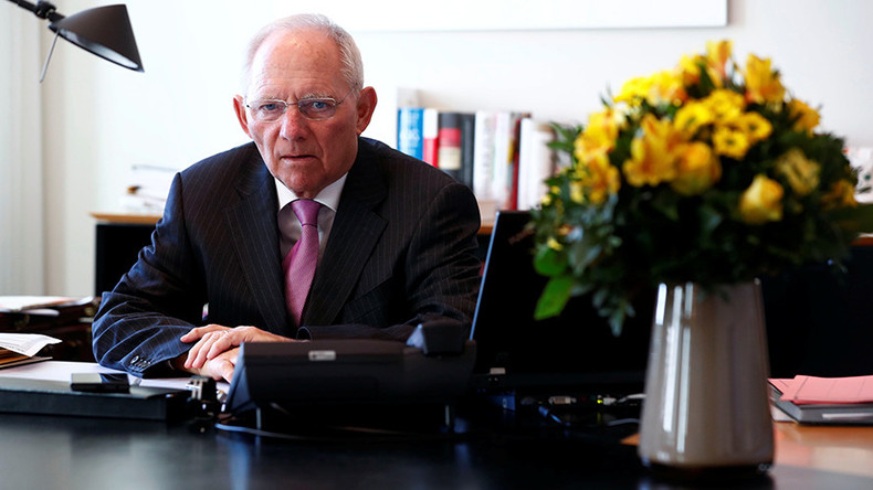 Schaeuble wants to convince Trump that Germany's trade surplus is good for America