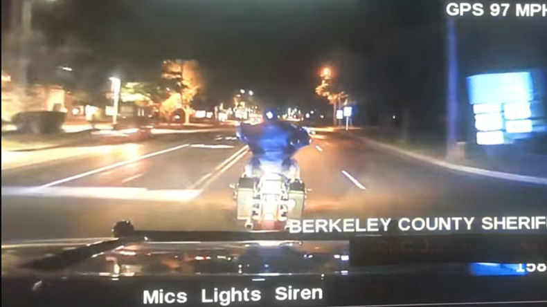 High-speed police chase leaves motorcyclist dead, South Carolina deputy on leave (VIDEO)