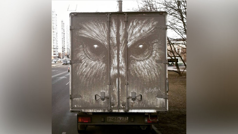 From mud to masterpiece: Russian street artist draws mind-blowing images on dirty cars (PHOTOS)