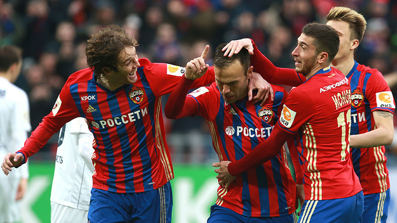 Champions CSKA thrash Lokomotiv in Moscow derby to keep heat on leaders Spartak