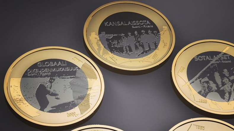 Finland withdraws 'tasteless' collector coins depicting civil war execution & drowned refugee kid