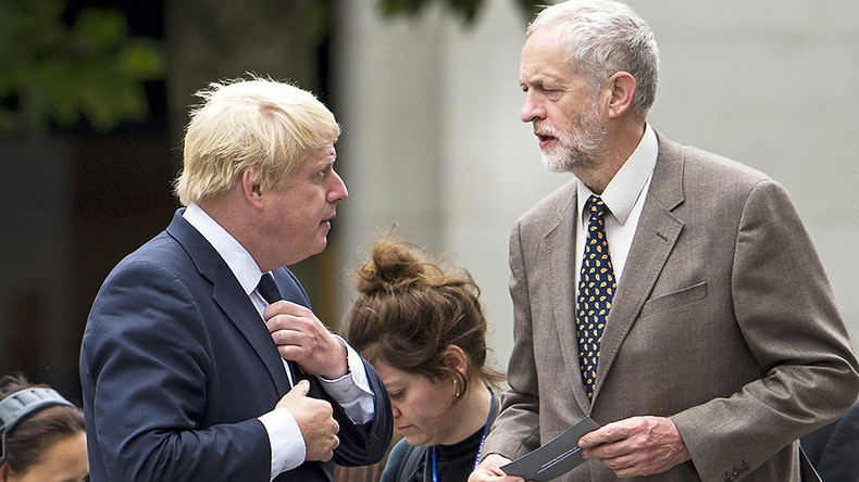 Boris Johnson calls Jeremy Corbyn a 'mutton-headed mugwump'