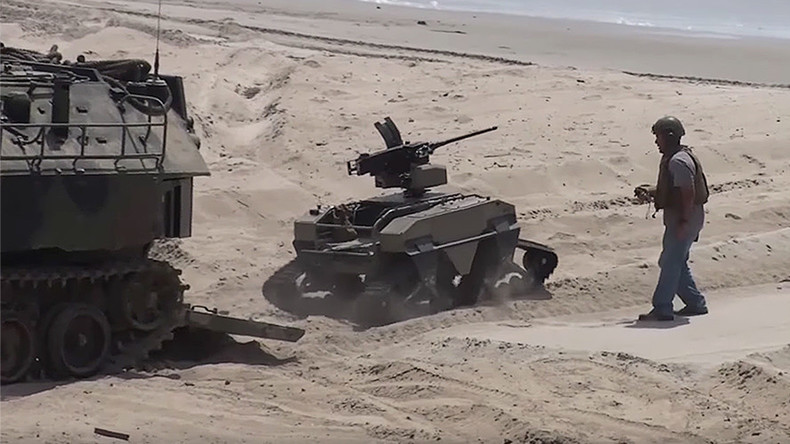 Future of beach warfare: US Marines test 'HyperSub,' machine-gun toting robots & more (VIDEOS)