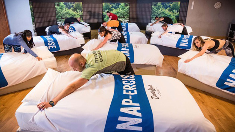 '40 winks workout': Bizarre 'napercise' gym class involves sleeping for 45 minutes