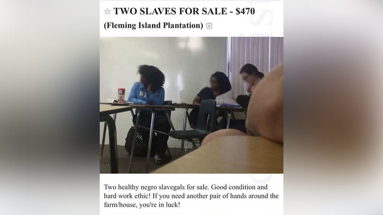 'Slavegals for sale': Student faces expulsion over racist Craigslist ad – reports