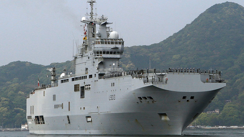 French helicopter carrier with 2 British rotorcraft arrives