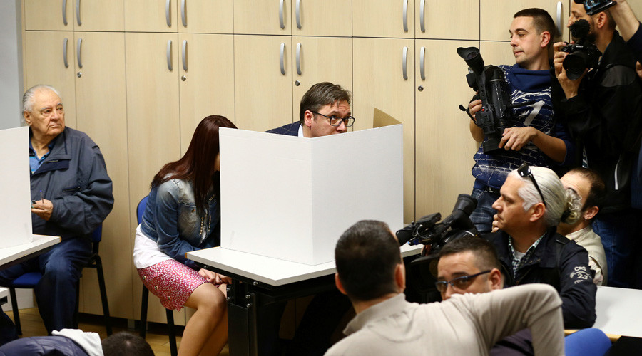 Acting Serbian PM Vucic wins presidential election – preliminary results