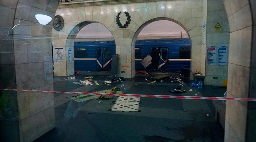 St. Petersburg Metro blast aftermath & investigation