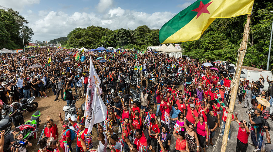 French Guiana protesters block space launchpad amid multibillion-euro aid row with Paris