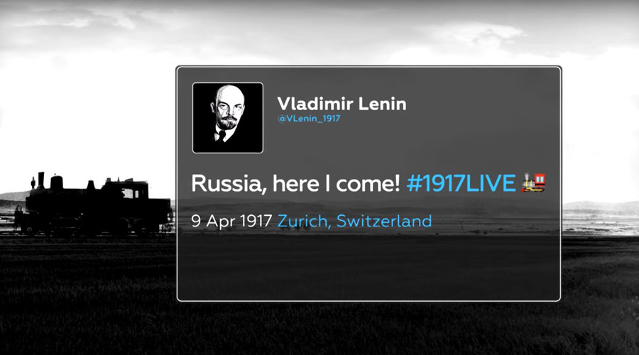 #LeninTracker: Follow Lenin's trip to revolutionary Russia with real-time radar & tweets
