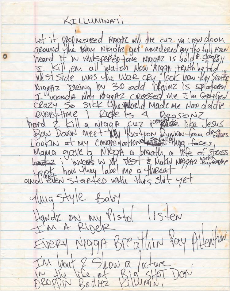 Tupac's lyrics, Koran & jewelry under the hammer in US