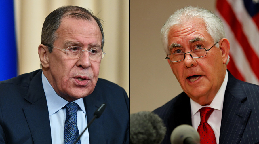 Russian FM & US Secretary of State discuss US strike on Syria in phone call