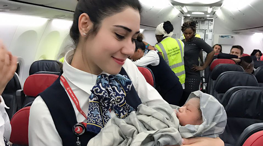 Baby on board: Turkish airlines successfully deliver newborn mid-flight