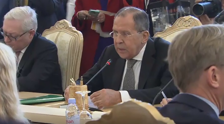 'Who is giving you your manners?' Lavrov schools NBC reporter for Tillerson event interruption