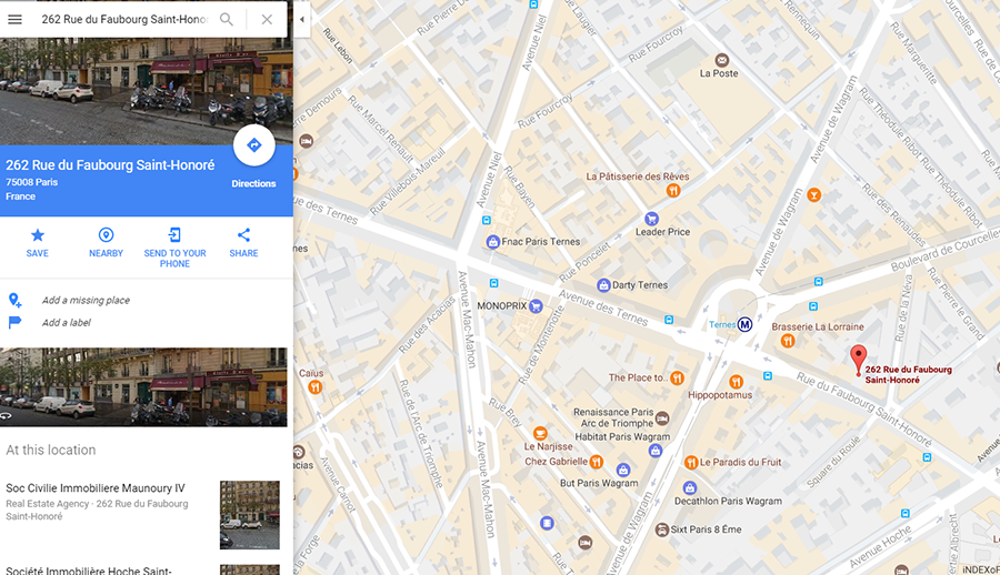 Google Maps puts Marine Le Pen in presidential Elysee Palace ...