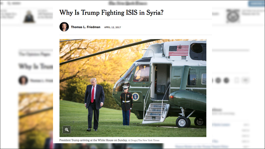 US should use ISIS as a proxy - New plan for Syria published in New York Times