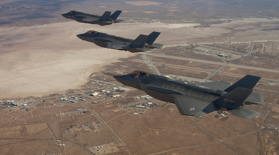 US F-35 fighter jets arrive in Europe for the first time