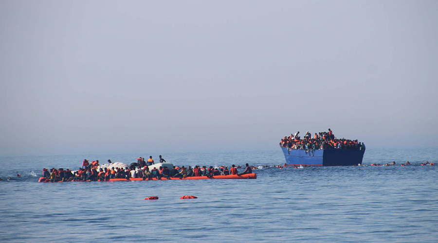 German boat sends out SOS after taking on too many migrants in Mediterranean