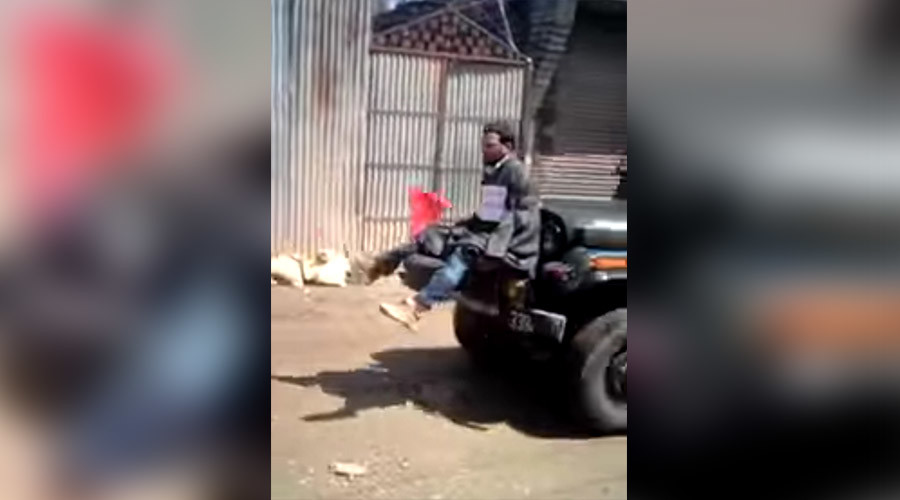 Indian Army accused of using Kashmir man as human shield (VIDEO)