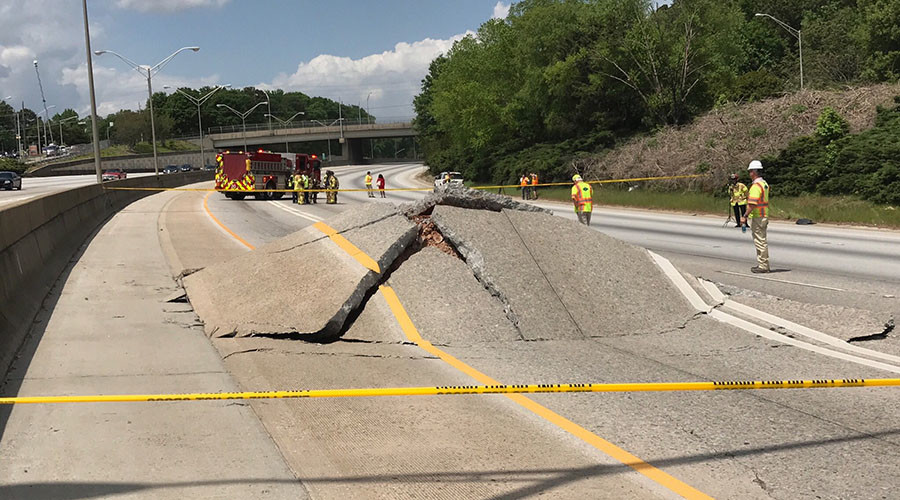 Atlanta motorists can't catch a break: Another highway closed after I-20 buckles