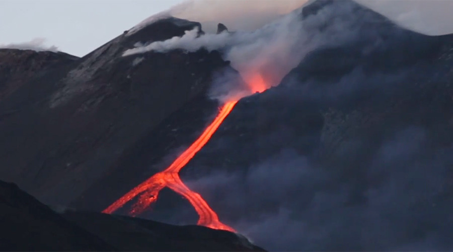 Mt Etna's red hot lava rivers convey awesome power of fire mountain (PHOTOS, VIDEOS)