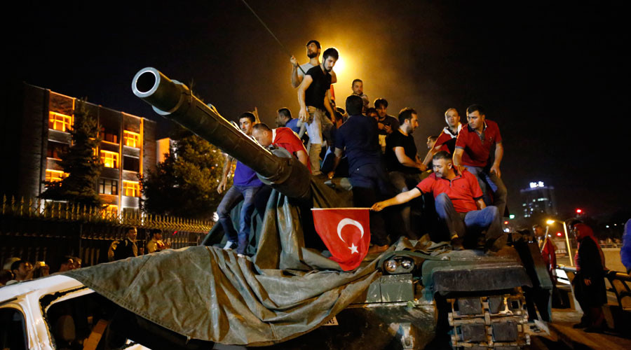 Turkish pre-school kids re-enact failed coup with fake weapons & fallen 'martyr' (PHOTOS)