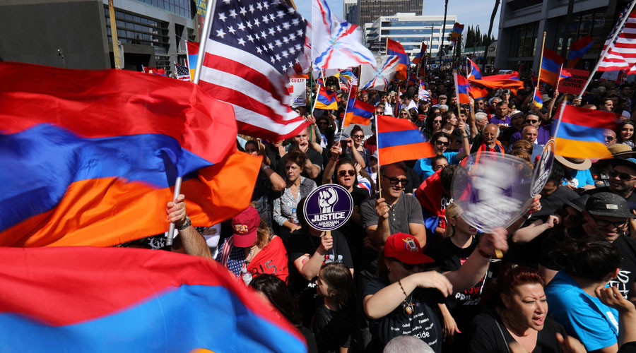 Thousands hold rallies across globe to commemorate Armenian genocide (VIDEOS)