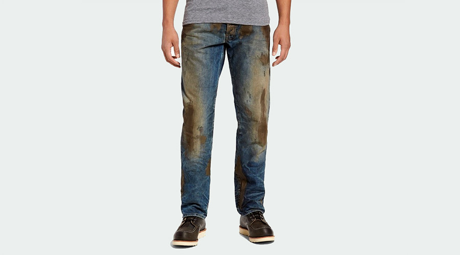 Nordstrom selling 'rugged Americana' mud-stained jeans for $425