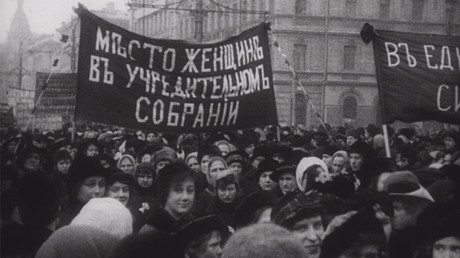 Women's march in Petrograd