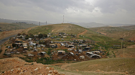 Palestinian Bedouin village of Khan al-Ahmar, in the Israeli-occupied West Bank. © Abbas Momani