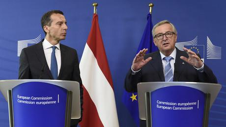 European Commission President Jean-Claude Juncker (R) and Austria's Chancellor Christian Kern © John Thys