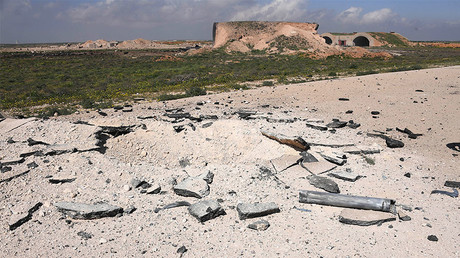 Aftermath of the US missile attack on the Syrian military airbase.