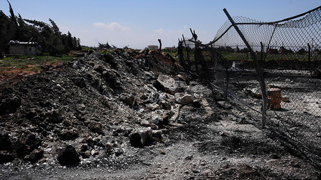 Aftermath of the US missile attack on the Syrian military airbase © Mikhail Voskresenskiy