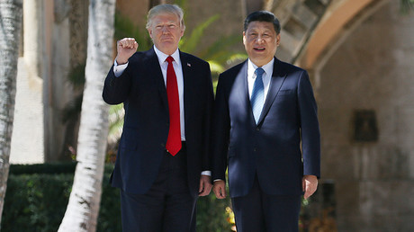 US President Donald Trump and China's President Xi Jinping in Palm Beach, Florida, April 7, 2017 © Carlos Barria