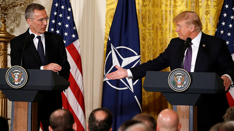 Trump wants to 'get along' with Russia but says NATO 'no longer obsolete'
