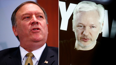 Central Intelligence Agency Director Mike Pompeo and Julian Assange, Founder and Editor-in-Chief of WikiLeaks © Reuters