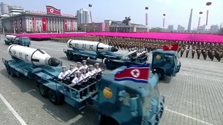 Pyongyang parades new ICBMs & submarine-based missiles in founding leader's honor (PHOTOS, VIDEO)