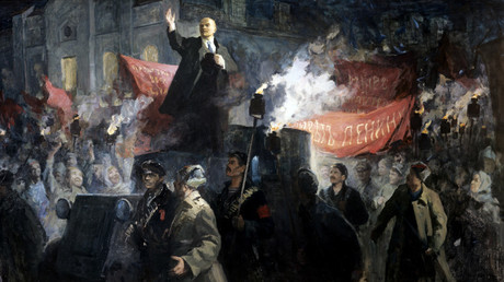 Lenin arrives in Petrograd/ V.A. Lyubimov