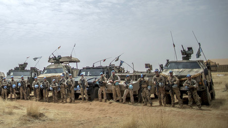 German soldiers from the UN contingent MINUSMA. Camp Castor in Gao, Mali. © Michael Kappeler