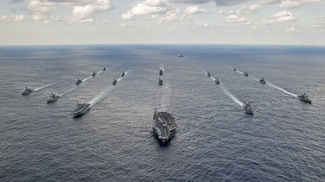 FILE PHOTO. U.S. Navy and Japan Maritime Self-Defense Force ships. © U.S. Navy