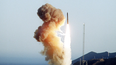 FILE PHOTO: Minuteman III launch © Wikipedia