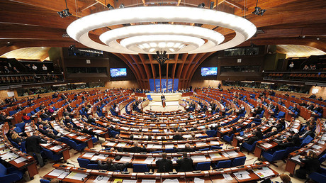 General view of the Council of Europe parliamentary assembly in Strasbourg, eastern France. © Frederick Florin
