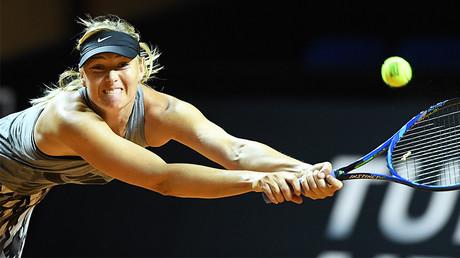 Russian tennis player Maria Sharapova, Stuttgart, southern Germany, on April 26, 2017. © AFP