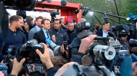 'He is a hypocrite!' France's Macron heckled by pro-Le Pen workers in his hometown (VIDEO)