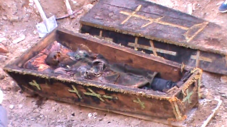 Remains of 19th century Russian officer unearthed in Turkey (VIDEO)