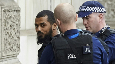 Man carrying bag of knives near UK Parliament arrested under Terrorism Act