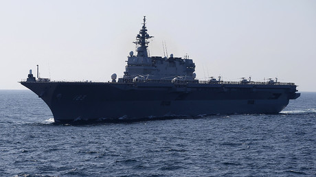 The Izumo military helicopter carrier of the Japan Maritime Self-Defense Force (JMSDF) © Toru Hanai