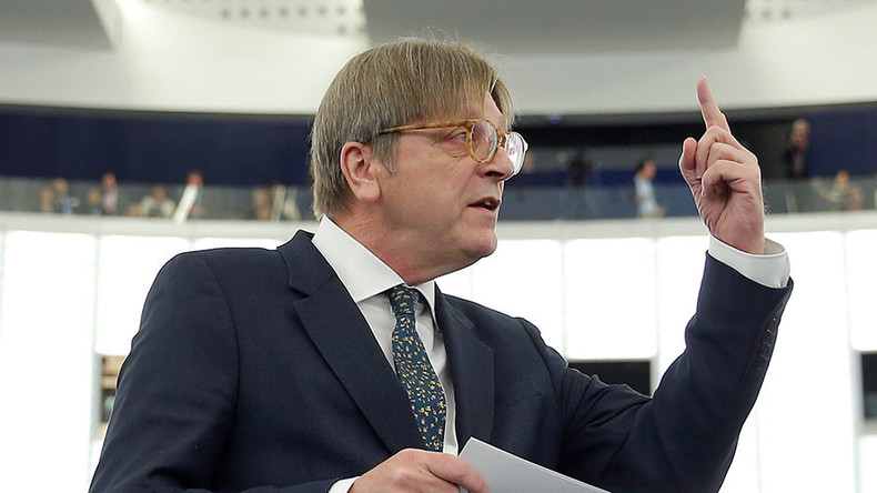 EU Brexit negotiator Verhofstadt trolls Theresa May over 'strong & stable' leadership