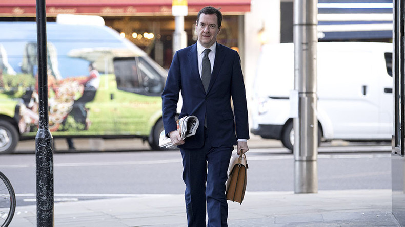 Protesting cabbies offer George Osborne 'huge line of coke' on 1st day as newspaper editor