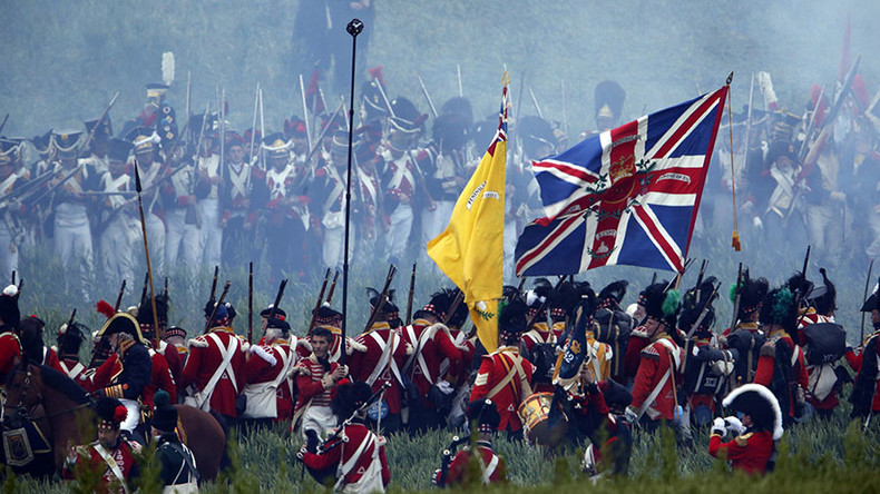 Union Jack flown at Battle of Waterloo found in shoebox